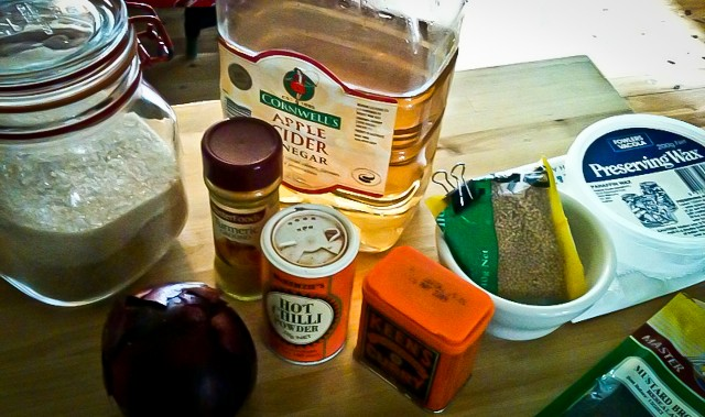 mise en place, ingredients good to go
